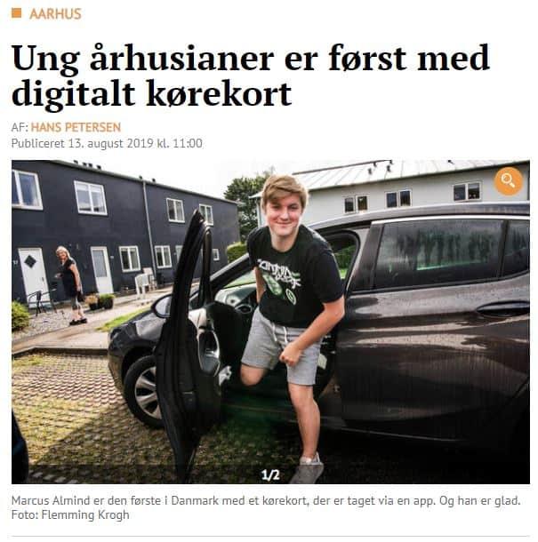 Første danske elev har taget digitalt kørekort forløb